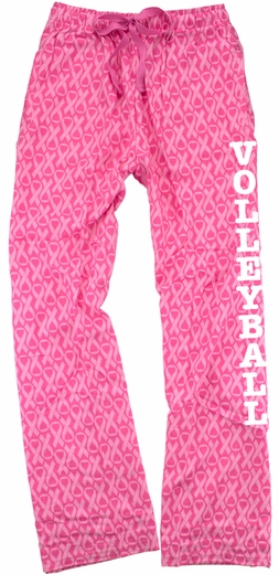 Pink Ribbon Awareness Flannel Pants - Choice of 22 Sports on Leg or Rear