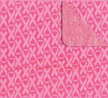 Pink Ribbon Awareness Pattern Cotton Flannel Blanket