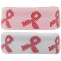 Pink Ribbon Cancer Awareness Bracelet / Wristband / Ponytail - 2 Color Options