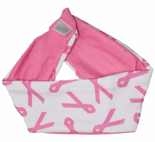 Pink Ribbon Cancer Awareness Reversible Stretch Headbands