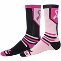 Pink Ribbon Fighter Crew Socks - 2 Color Options