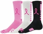 Pink Ribbon Legend Crew Socks - 3 Color Options