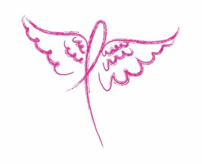 Pink Ribbon Wings Cancer Awareness T-Shirt - in 22 Shirt Colors