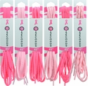 Pink Shoelaces in Bright Pink & Light Pink - in 3 Style Options