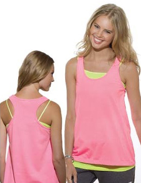 Pink Heather Racerback Tank Top w/ 16 Sport Prints