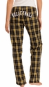 Plaid Flannel Lounge Pants - Choice of 22 Sport Prints on Rear or Leg - in 30 COLORS