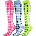 Plaid Stripe Knee High Socks - 4 Color Options