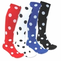 Polka Dot Knee High Socks - 23 Color Options