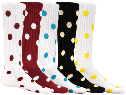 e7c69a075 Polka Dots Red Lion Athletic Knee High Socks in Several Team Color ...