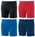 "4"" Poly / Spandex Shorts - in 4 Team Colors"