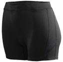 "Poly / Spandex 4"" inseam Black Spandex Volleyball Shorts"