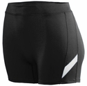 "Poly / Spandex 4"" inseam Black & White Stripe Spandex Shorts"