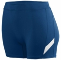"Poly / Spandex 4"" Stride Navy / White Spandex Shorts"