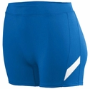 "Poly / Spandex 4"" inseam Royal & White Stripe Spandex Shorts"