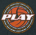 Practice Around Volleyball Design Dark Grey T-Shirt