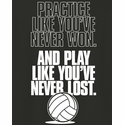 Practice Like A Champion Design Black Volleyball T-Shirt