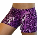 Purple Leopard Spandex Shorts