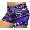 Purple & Black Mamba Spandex Shorts