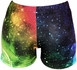 Rainbow Colored Galaxy Spandex Shorts