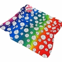 Rainbow Tie-Dye Fleece Volleyball Blankets