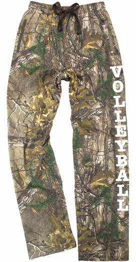 Realtree Camouflage Flannel Lounge Pants - Choice of 22 Sports on Leg or Rear