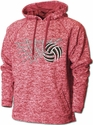 Red Heather Performance Fleece Hoodie w/ Net & Ball Volleyball Design