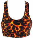 Red Hot Flame Printed Sports Bras