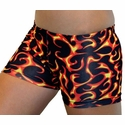 Fire & Flames Burning Spandex Shorts
