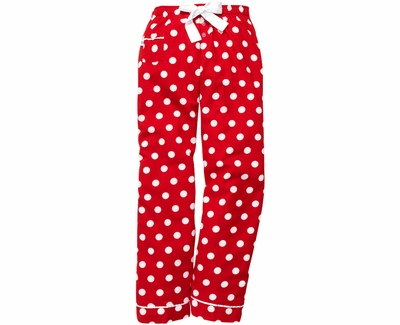 Red Flannel Lounge Pants W White Polka Dots Choice Of 22 Sport