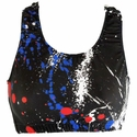 Red, White, & Blue Paint Splatter Sports Bras