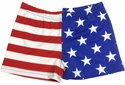 Red White & Blue USA Flag Spandex Shorts