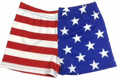USA Flag Red White & Blue Stars & Stripes Printed Spandex ...