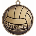 Round Volleyball Medal