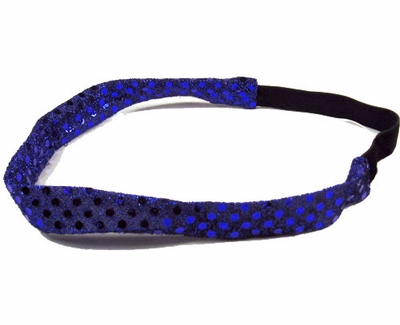 Royal Blue Sequin Glitter Headbands