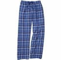 Royal Sparkle Plaid Flannel Lounge Pants - Choice of 22 Sports on Leg or Rear