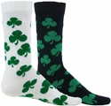 Green Shamrock Charm Crew Socks - in White or Black