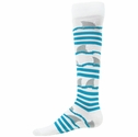 Shark Fins & Stripes Knee High Socks