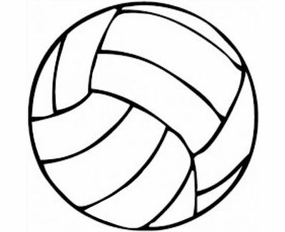 """Small 3"""" Round Black & White Volleyball Decal"""