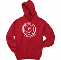 Smiley Face Volleyball Design Hooded Sweatshirt - in 20 Hoodie Colors