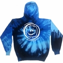 Smiley Face Volleyball Design Tie Dye Hooded Sweatshirt - in 6 Hoodie Colors