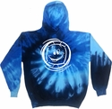 Smiley Face Volleyball Design Tie Dye Hooded Sweatshirt - in 4 Hoodie Colors