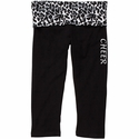 Snow Leopard Waist Yoga Capris w/ Volleyball Printed on Leg