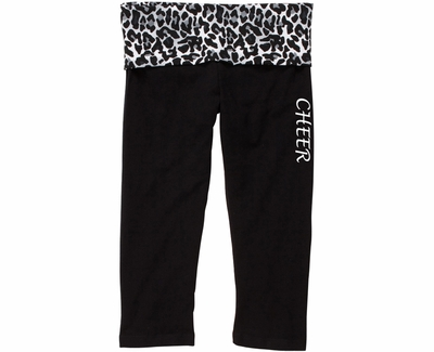 Snow Leopard Waist Yoga Capris - Choice of 16 Sports on Leg