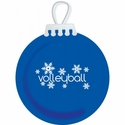Snowflakes Volleyball Tree Ornament