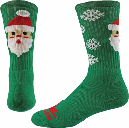 Snowman & Santa Winter Holiday Crew Performance Socks