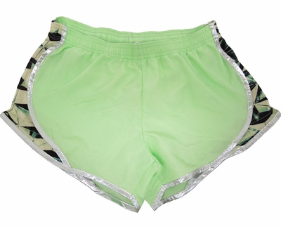 Soffe Black & Lime Pyramids Track Shorts
