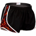 Soffe Black, Red & Orange Flame Print Track Shorts