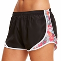 Soffe Black & Summer Daisy Track Shorts