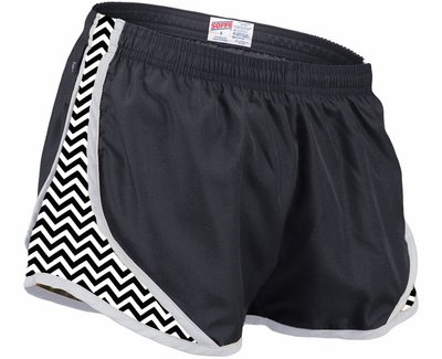 Soffe Black & White Chevron Track Shorts