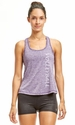 Soffe Dri Acai Purple Heather Racerback Tank Top w/ Sport Print